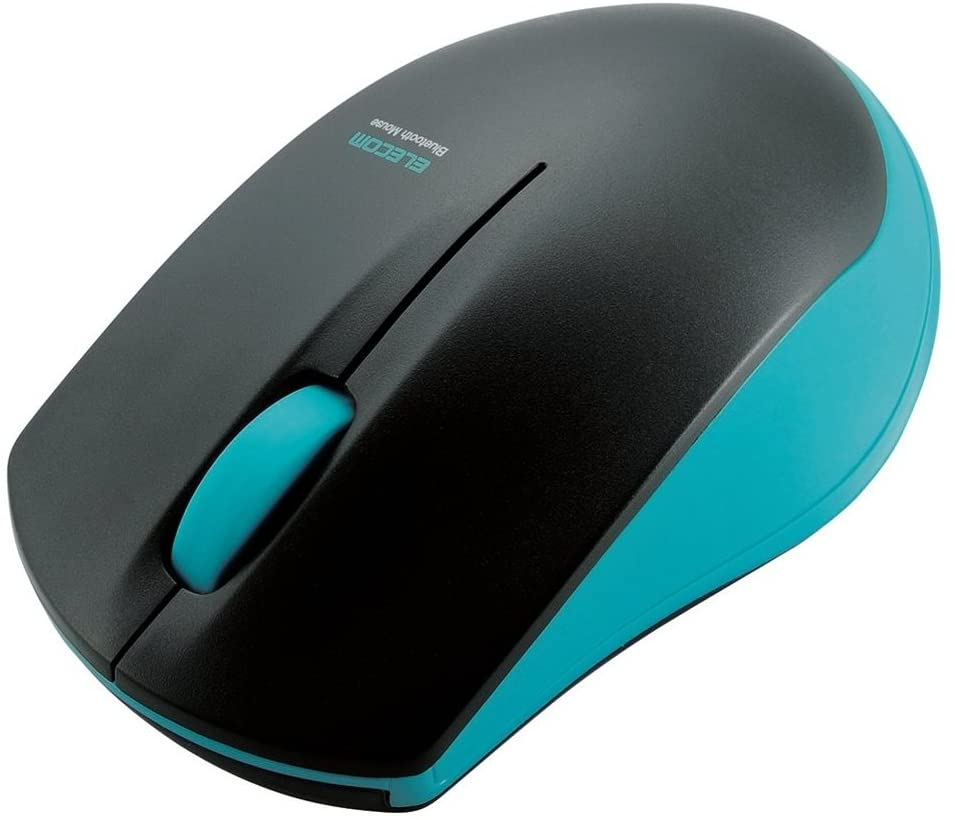 エレコムのマウス、ミントグリーン。
