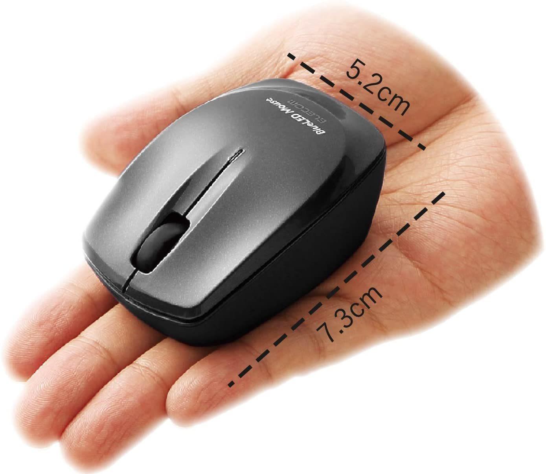 手のひらサイズのエレコムのマウス