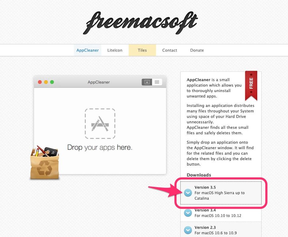 App Cleanerダウンロードページ